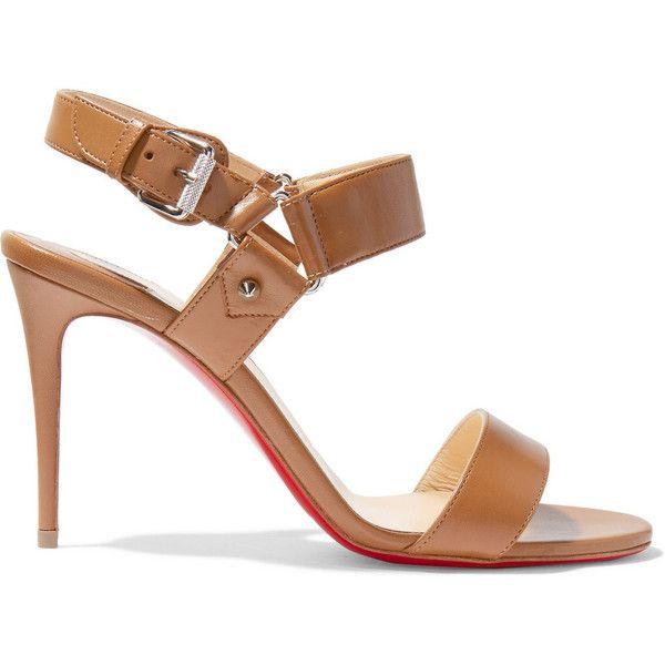 b0b1f61c6e32 Christian Louboutin Sova 85 leather sandals