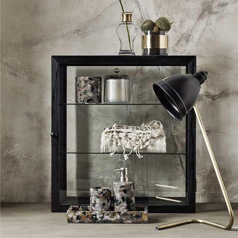 Wandregal Holz und Glas schwarz von Nordal, 200,00 u20ac WOHNZIMMER - wohnzimmer schwarz holz
