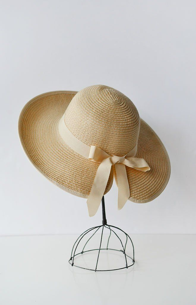 Secret Garden Hat Vintage Modern Straw Spring