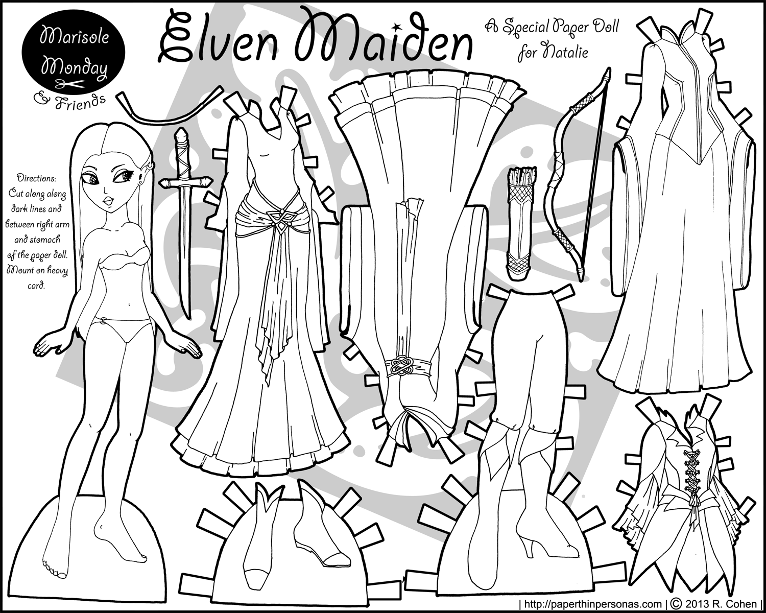 You searched for elven • Paper Thin Personas | Paper Dolls: Marisole ...