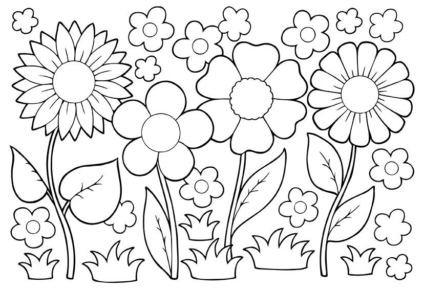 May Coloring Pages Flower Coloring Pages Spring Coloring