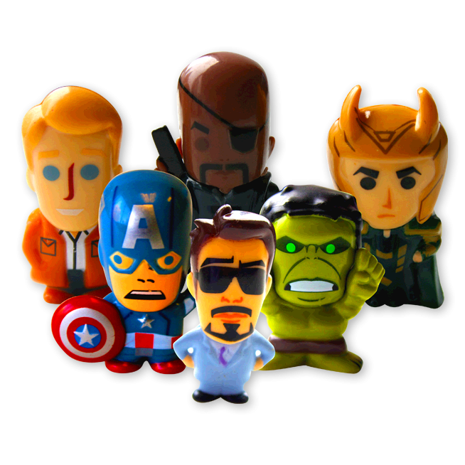 The store, Five Below, has Avengers Chibis.  You might not have a store in your area.  Check on www.fivebelow.com for the nearest store.  There is so much to love about 5 Below:  quality items are sold at a reduced cost; you can buy accessories for your cellphones and ereaders that you might not be able to afford elsewhere; holiday items; games, toys, and crafts are inexpensive; and I love the makeup and perfume aisles!