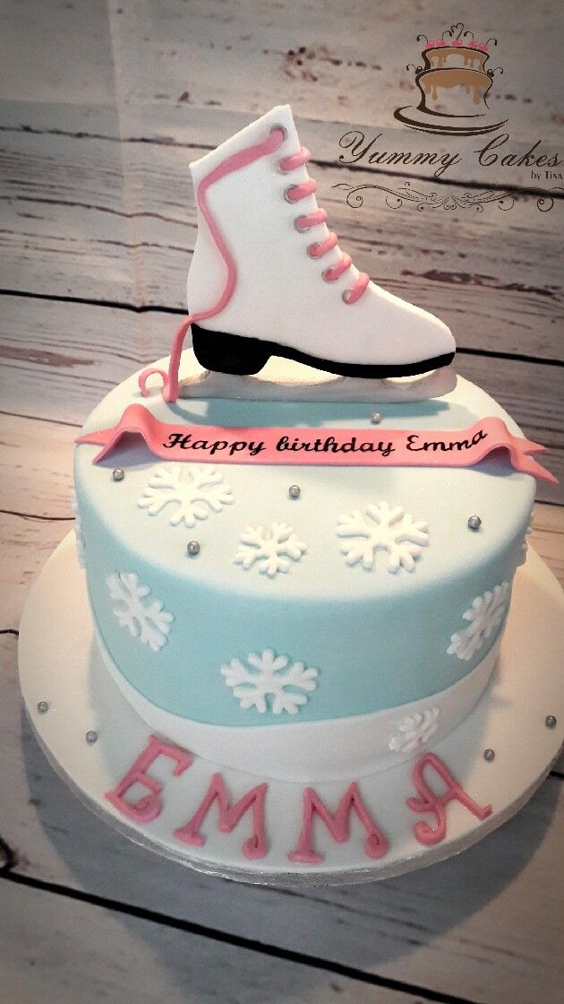 Ice Skating Cake Baking Birthday Parties Ice Skating Cake Ice