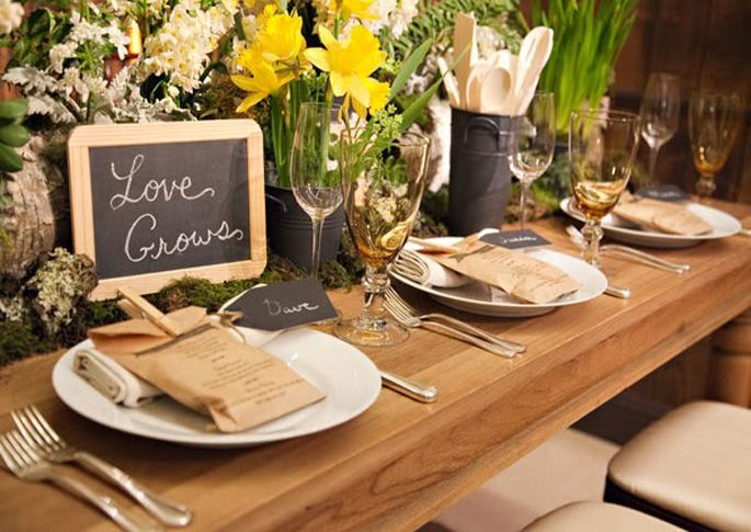 Images Of Gorgeous Rustic Table Place Settings