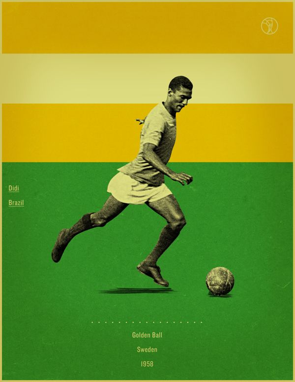 World Cup History Of The Golden Ball By Jon Rogers Via Behance World Cup Soccer Images Retro Style Posters