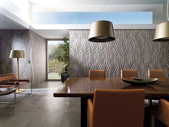 Suede relieves cerámicos con apariencia de cemento Cemento - paredes de cemento