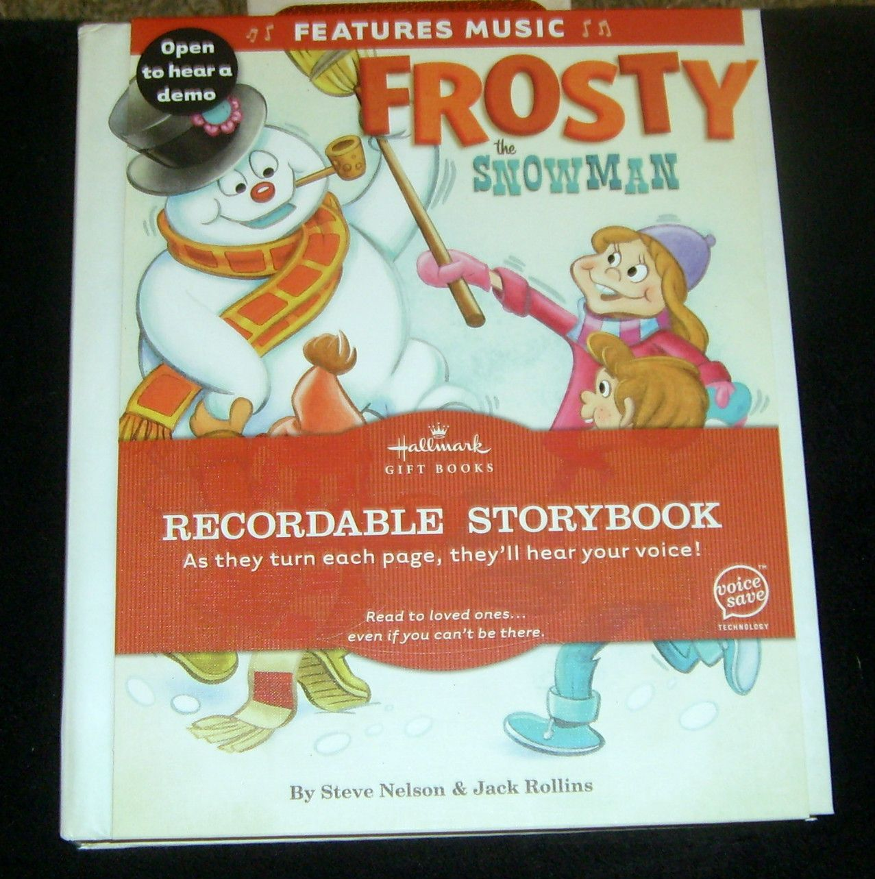 Hallmark Recordable Storybook Frosty The Snowman Features Music Bucher
