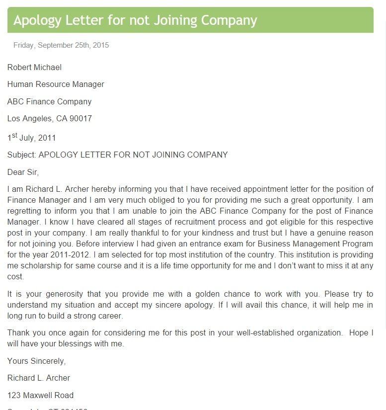 Sincere Apology Letter China M Visa China M Visa Applicationvisa
