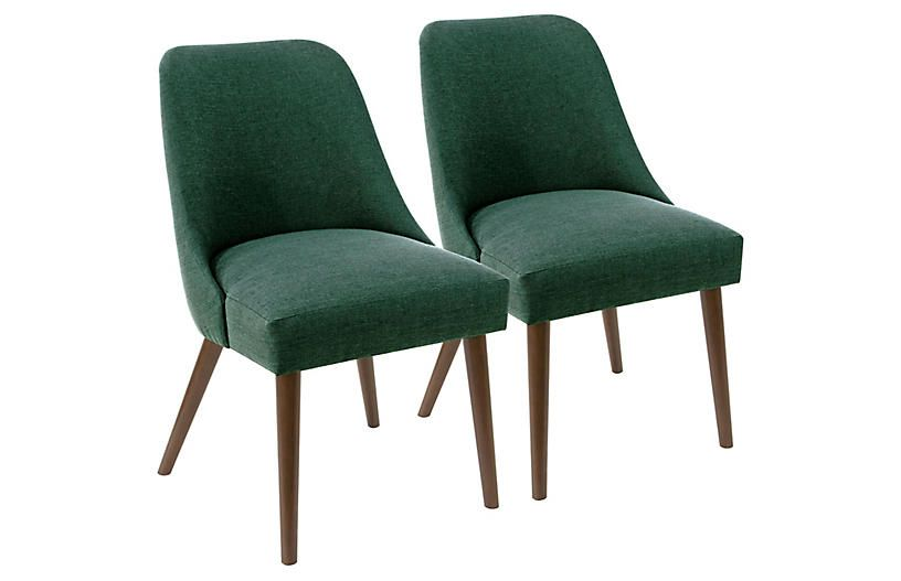 Set of 2 Barron Side Chairs - Forest Linen Products Pinterest