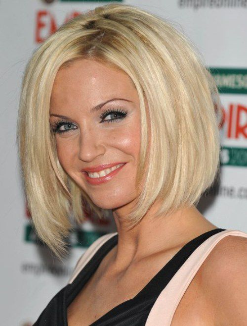 Thick And Sleek Layered Bob Hairstyles 2014 Without Bangs For
