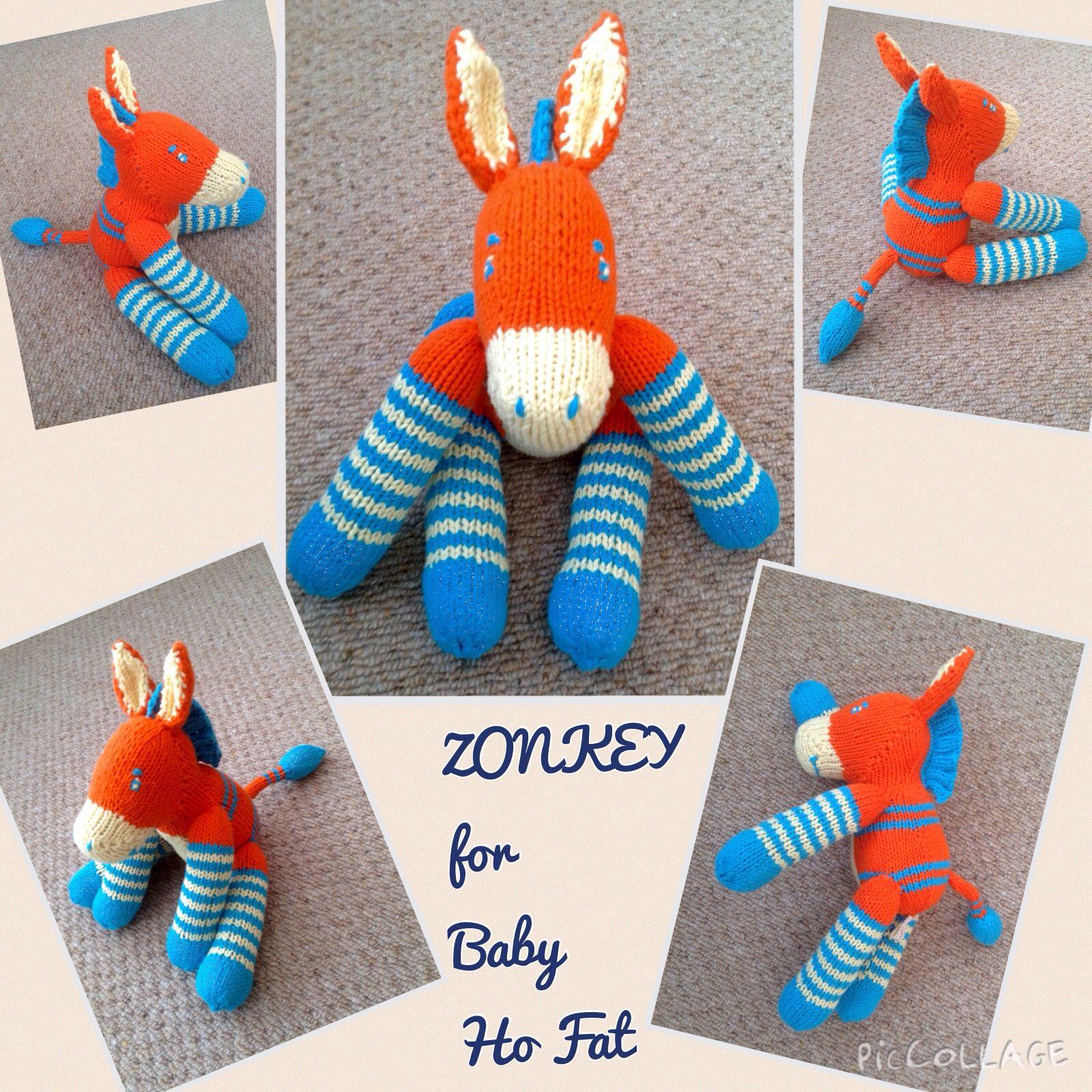 Just finished knitting this Zonkey. Pattern by Cara Key ...