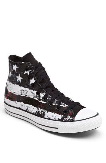 4789ff22b146 Rare Vintage USA Zebra Black Converse All Star Chuck Taylor Shoes ...