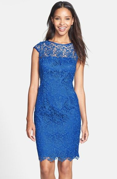 Sapphire Blue Lace Dress