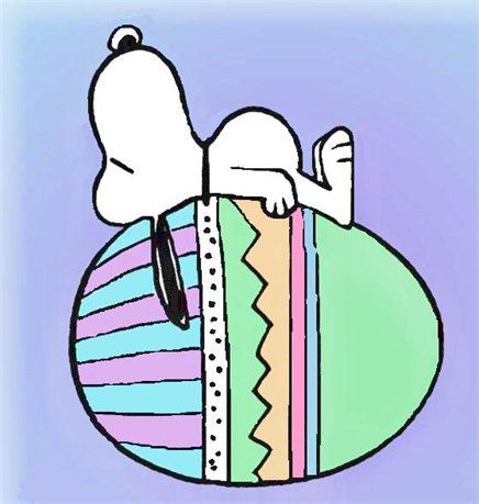 Image result for Snoopy Easter Eggs