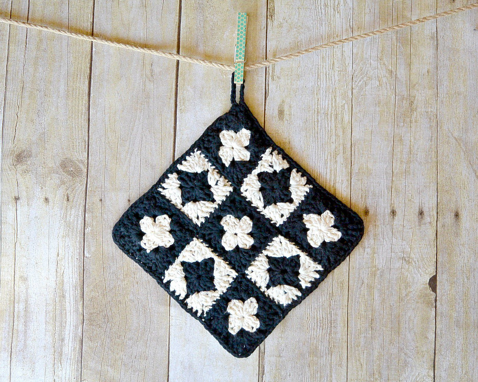 Free Crochet Potholder Pattern | Aprender, Relajarme, Disfrutar ...
