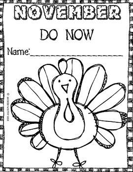 Morning Work Common Core Do Now November Thanksgiving Kindergarten Thanksgiving Preschool Thanksgiving School