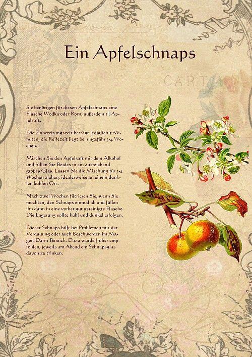 Ein Apfelschnaps Apfelschnaps Schnaps Schnaps Rezepte