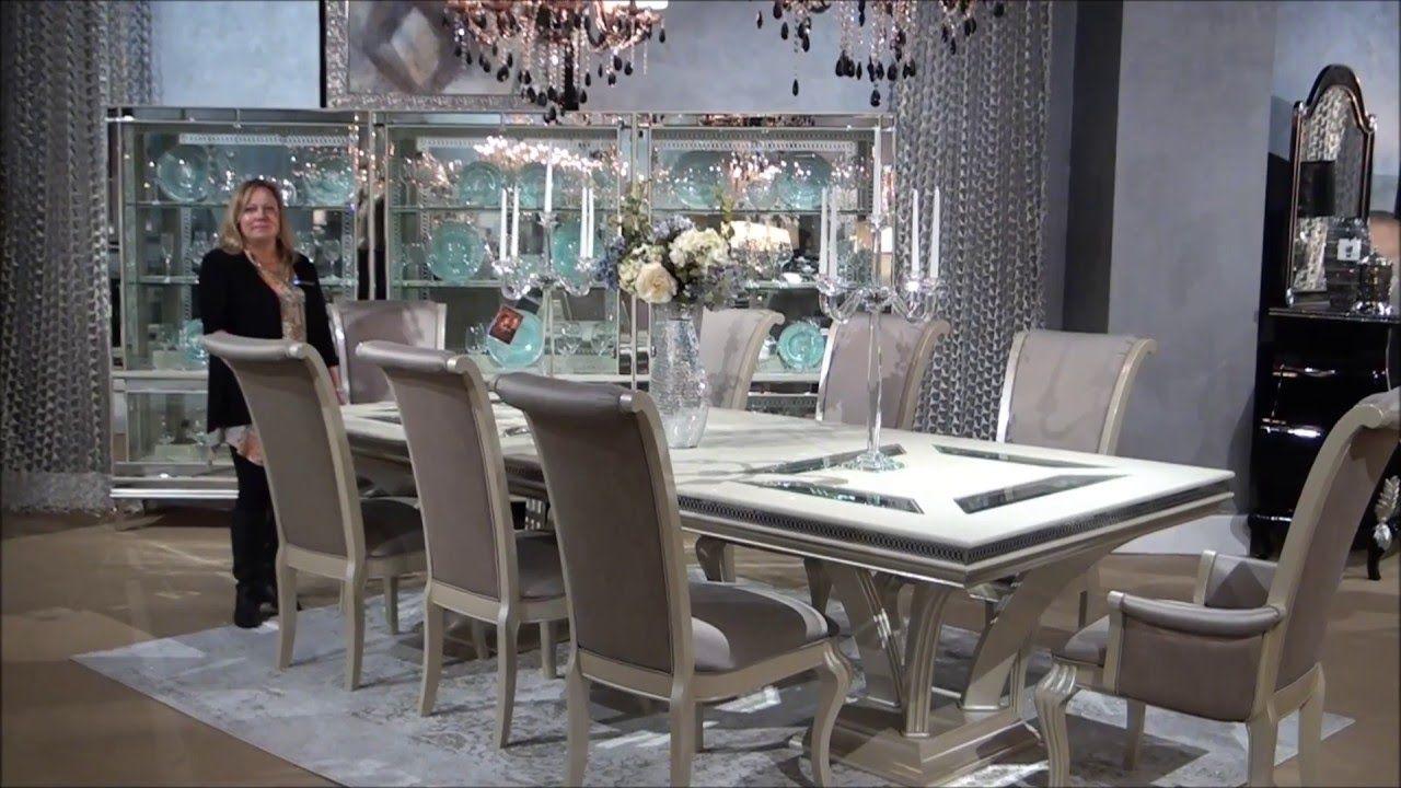 Hollywood Swank Rectangular Glam Dining Room Set by ...