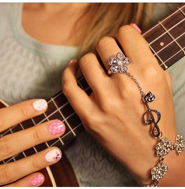 Music flower bracelet