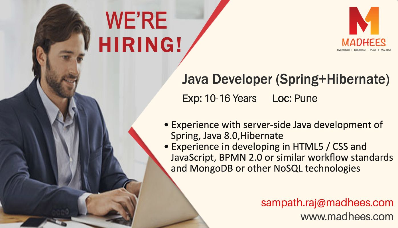 We're Hiring! Java developer with 1016 years experience