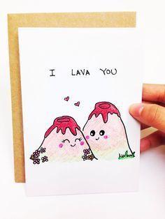 Lustige Valentinsgrußkarte lustige Valentinstagkarte lustige Valentinstagkarte für Freund lustige Jahrestagskarte ich lava Sie Lavakarte