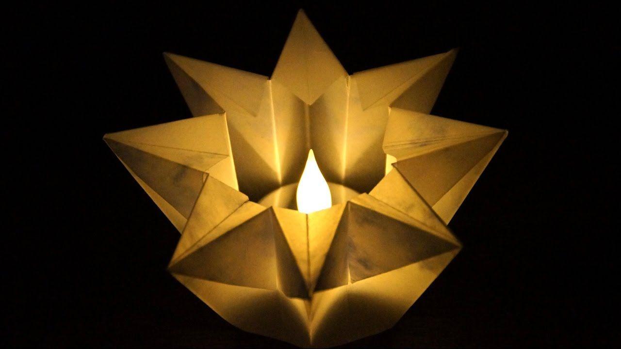 Basteln Zu Weihnachten Einfache Stern Windlichter Falten Aus
