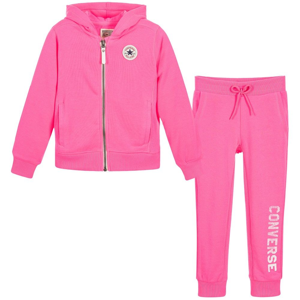 9d2fb9d9ce24 baby girl converse tracksuit