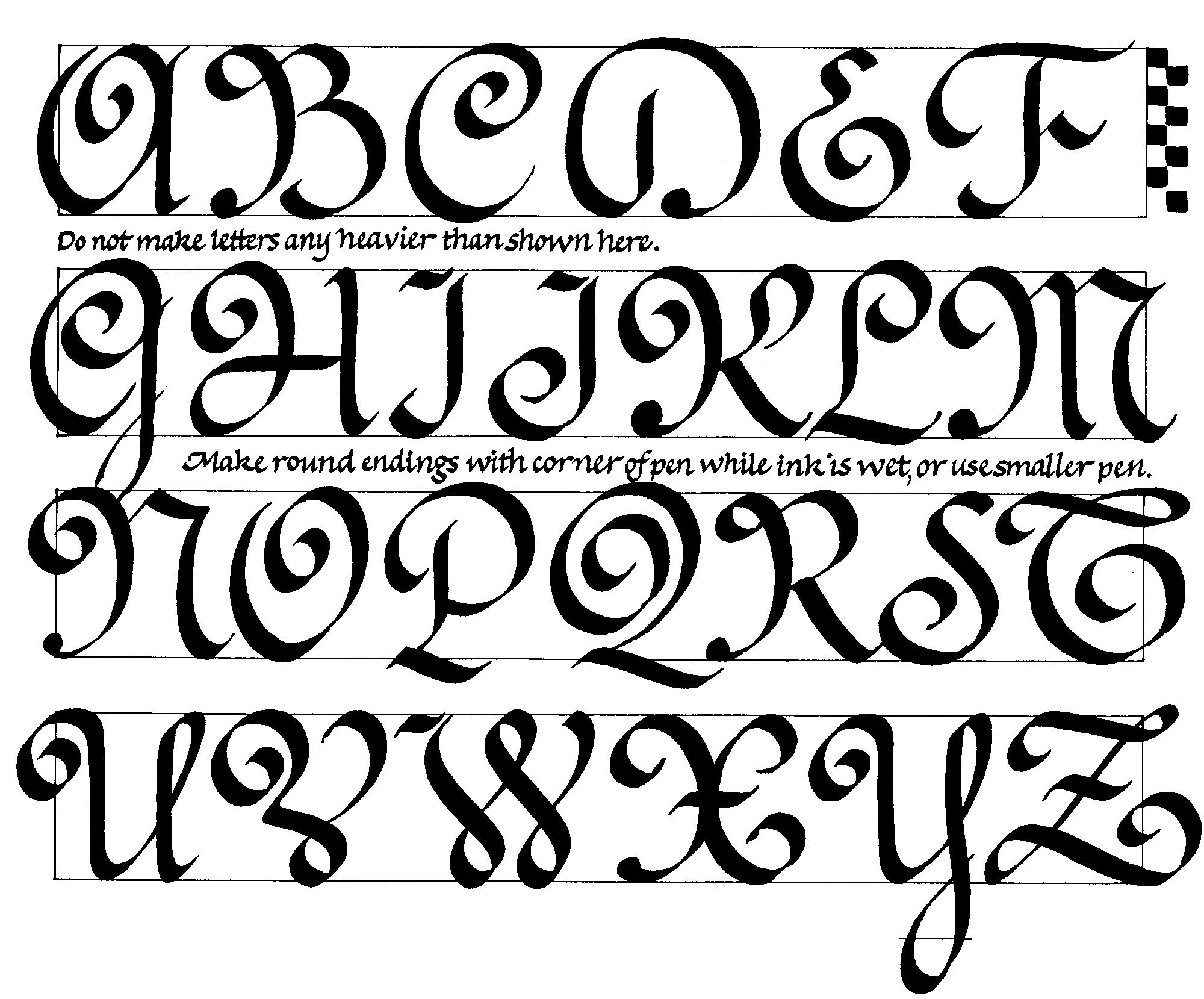 The Capitals For Ronde A Popular French Calligraphy Style From