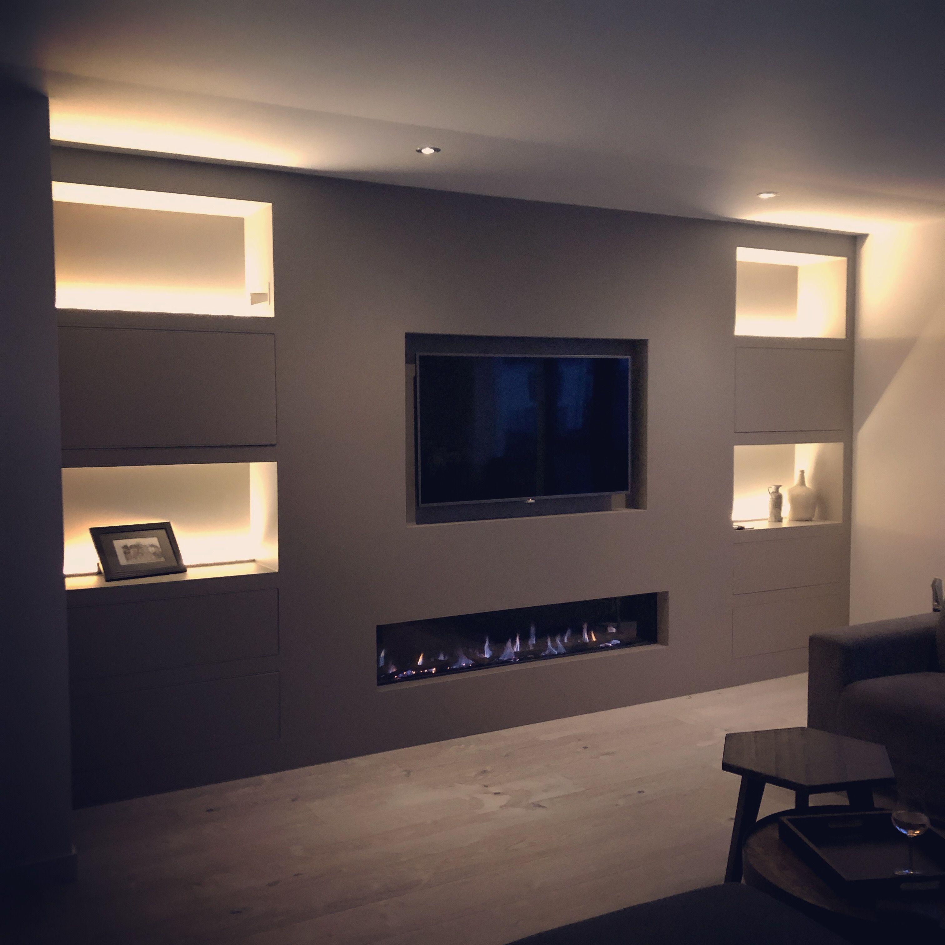 Onze Nieuwe Tv Hoek Huis Interieur Interieur Woonkamer Huis Ideeen Decoratie