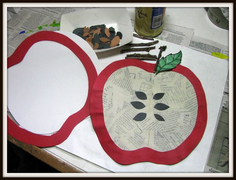 Apple collage. great preschool or 1st great fall project