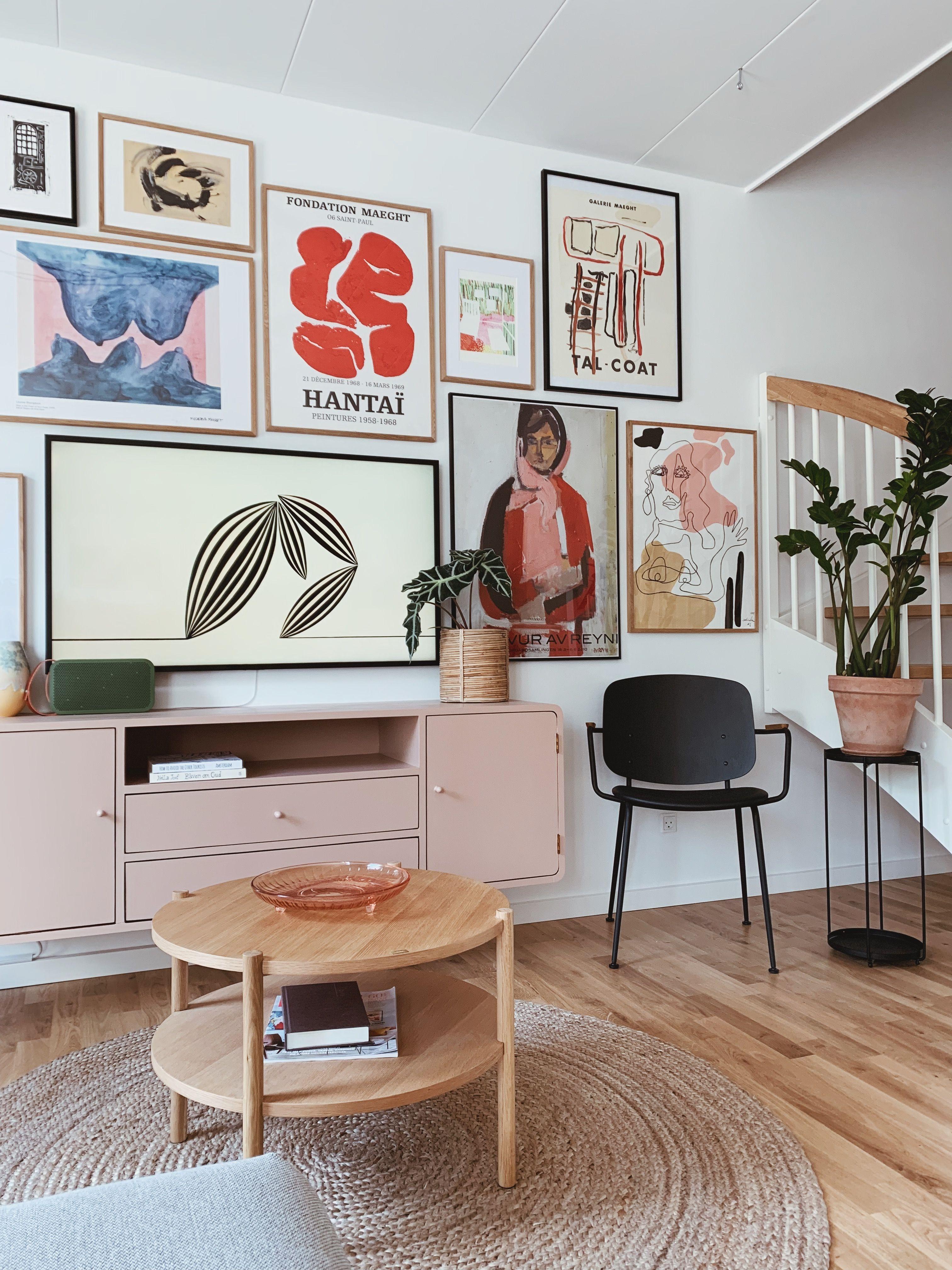 Billedvæg: Ny billedvæg i stuen og en oversigt over hvor jeg finder kunst og plakater - Ditteblog
