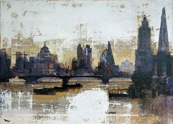 LONDON SLEEPS by Colin Ruffell. Signed and numbered Fine-art print.
