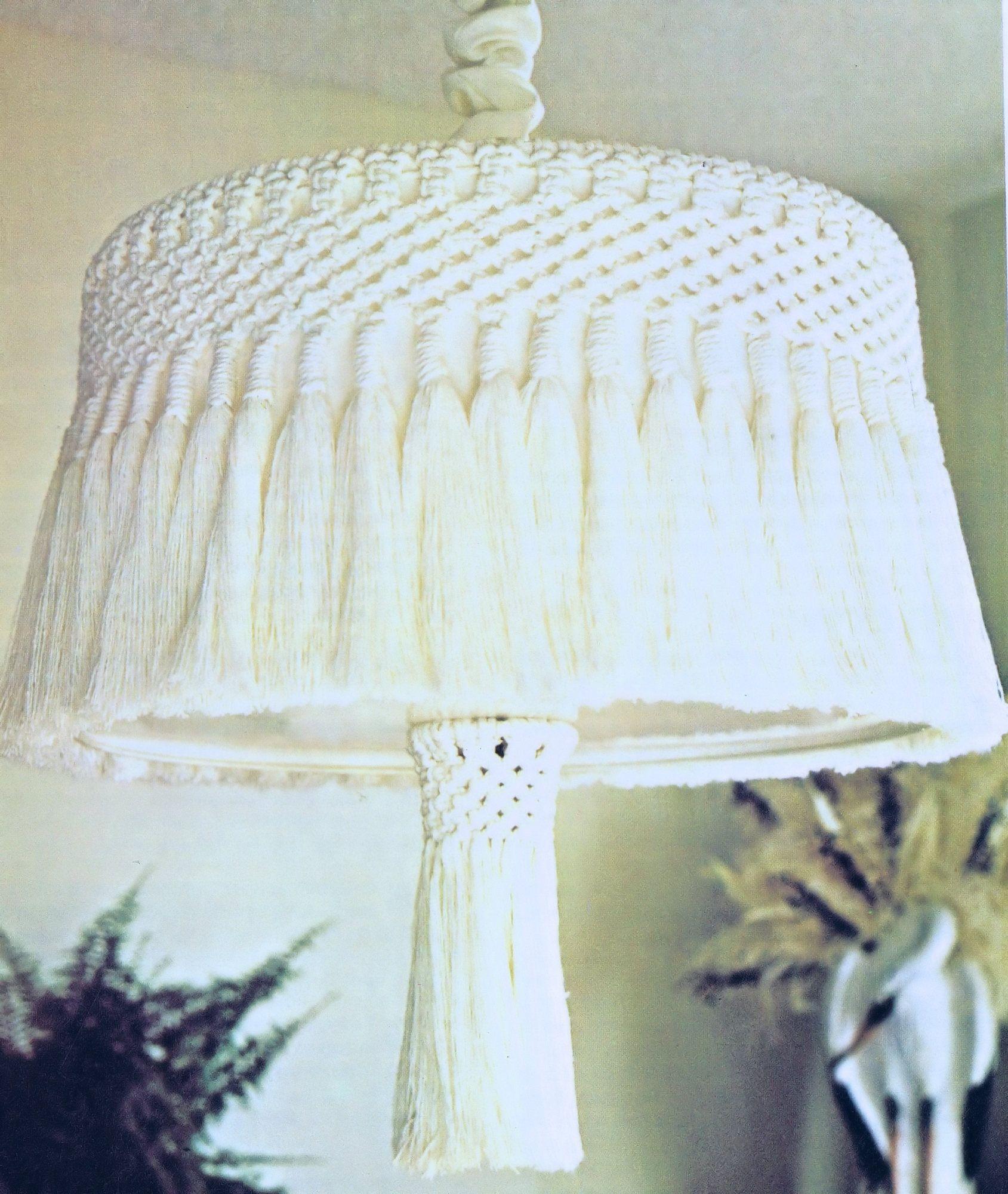 Hanging Lamp Vintage Macrame PDF Pattern 70s Home Decor ...