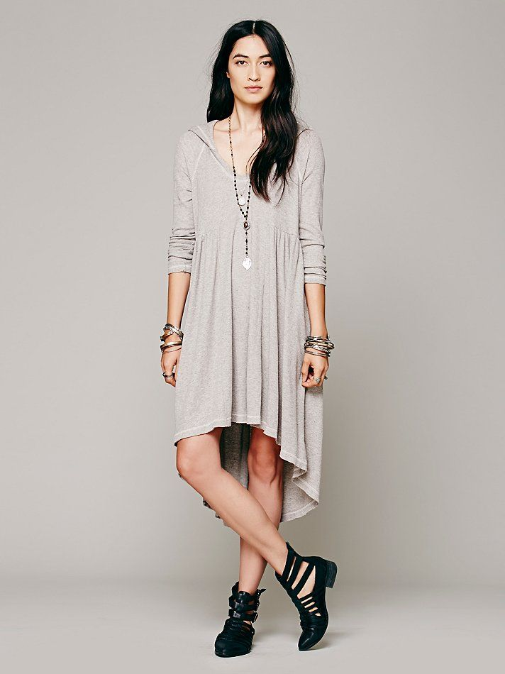 Free People Comfy Hooded Dress at Free People Clothing Boutique ...