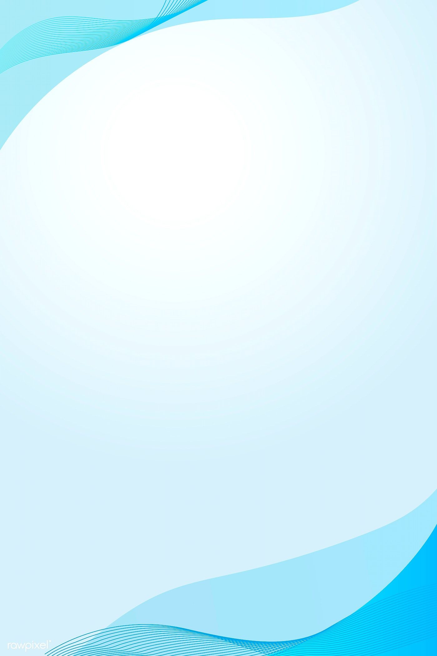 Cerulean Blue Curve Frame Template Vector Free Image By Rawpixel Com Mind Desain Banner Desain Pamflet Spanduk
