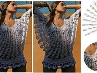 Bolero Fácil en Crochet com Margaritas - GanchilloGanchillo