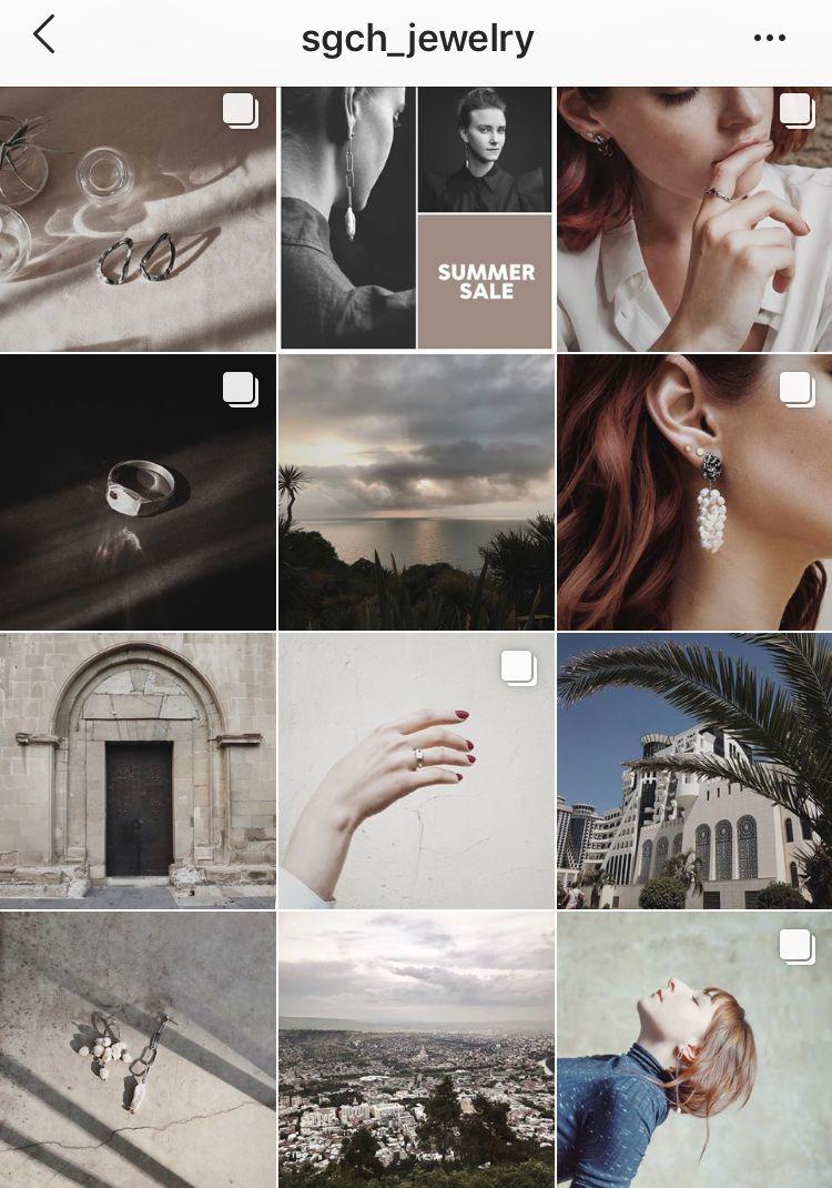 Пример ювелирного аккаунта Инстаграм | Инстаграм, Дизайн ...