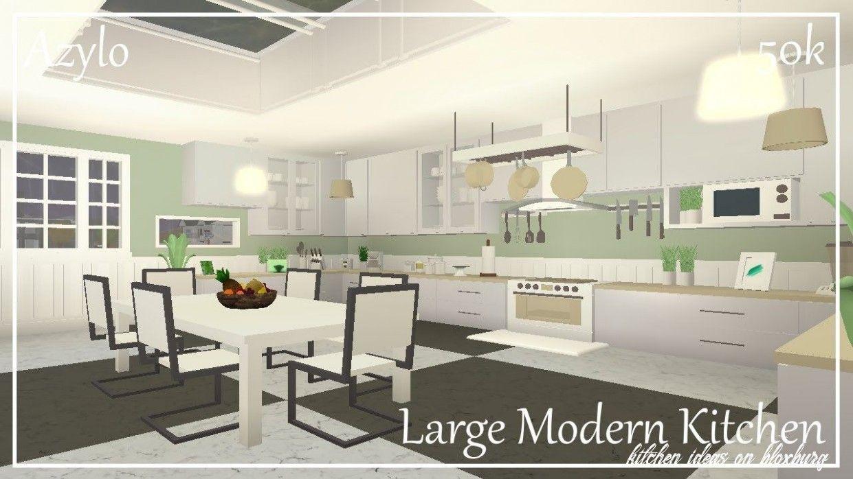 6 Kitchen Ideas On Bloxburg House Design Kitchen Modern Large Kitchens Modern Kitchen Design