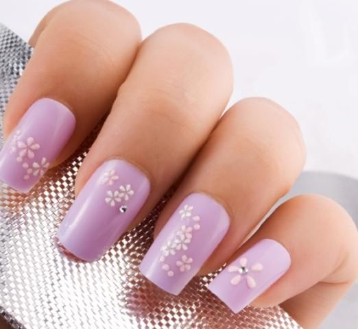 Pictures of Nail Designs with Flowers | Fingernail designs, Flower ...