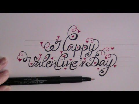 How to write cursive fancy letters happy valentines day for