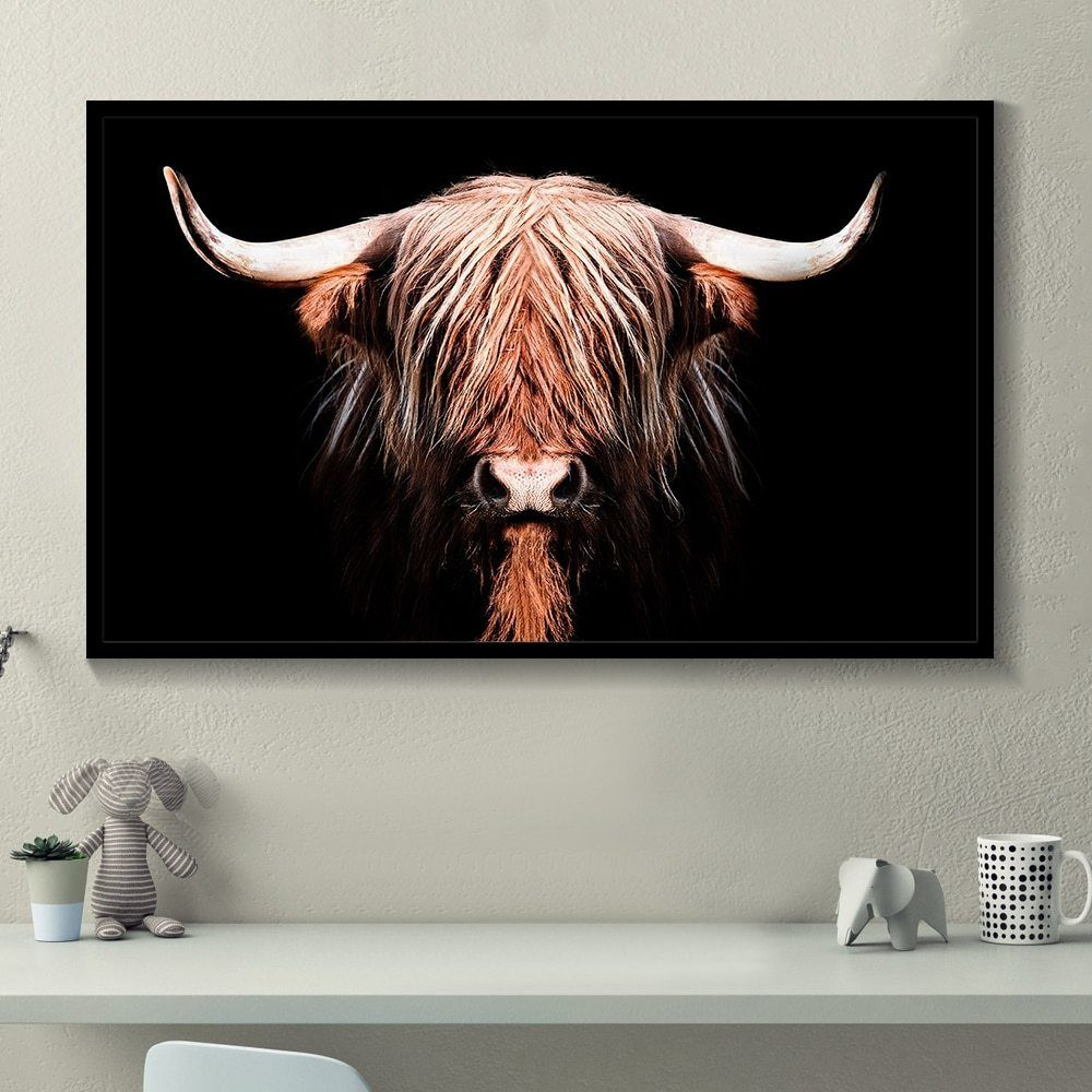 Arte Digital Vantagens E Desvantagens Highland Cow Posters And Prints Home Decoration Cow Wall Art