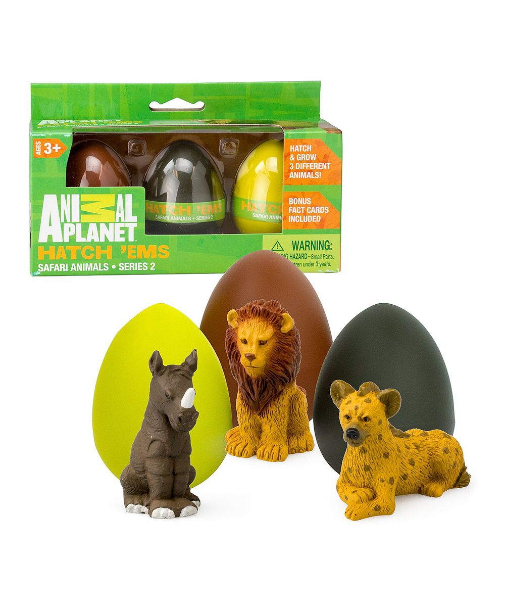 Safari Series 2 Egg Set Animal Hatch animals