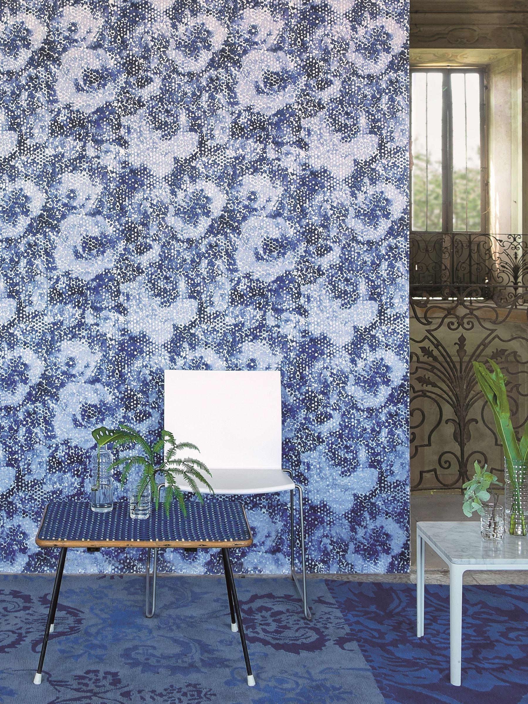 Designers Guild Mattiazzo Paste the Wall Wallpaper, Cobalt