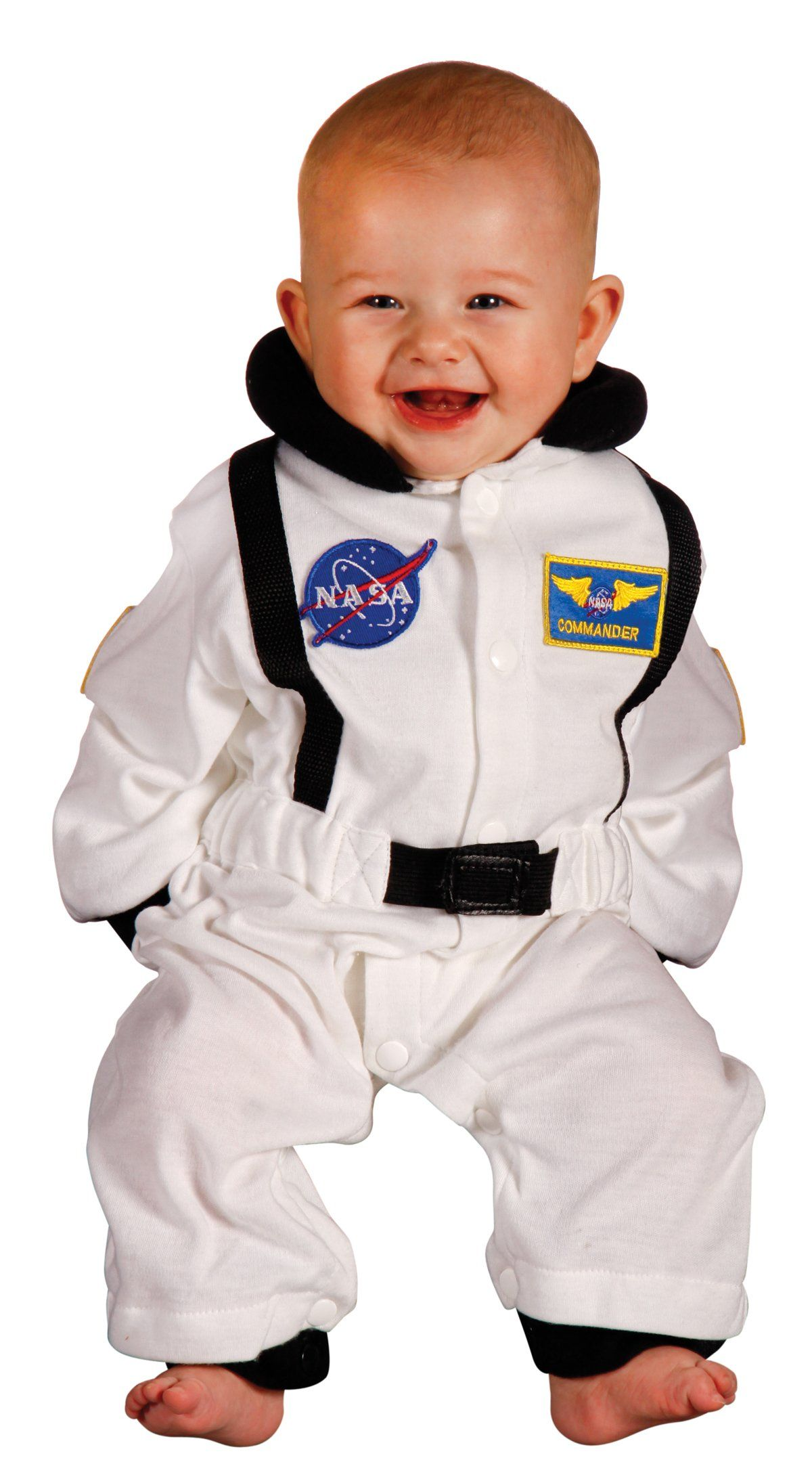 aeromax jr astronaut suit with nasa patches and diaper snaps white size 6 - Diaper Costume Halloween