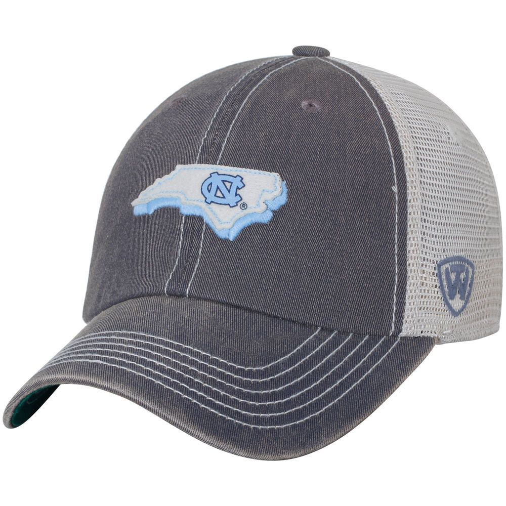 timeless design fdeca 7f111 Men s Top of the World Charcoal North Carolina Tar Heels United Trucker  Adjustable Snapback Hat