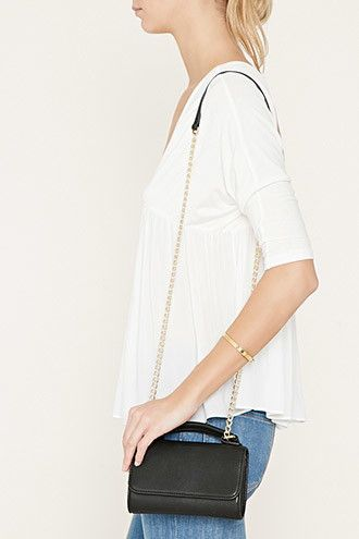 Faux Leather Mini Crossbody | Forever 21 - 1000182863
