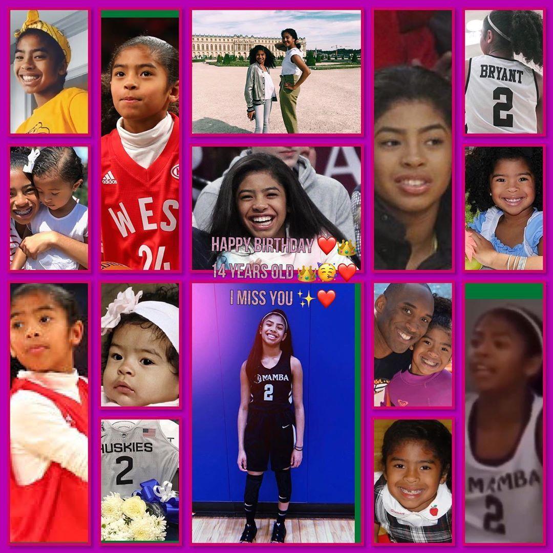 "Н""–𝓲𝓪𝓷𝓷𝓪 Н""'𝓻𝔂𝓪𝓷𝓽 On Instagram Happy Birthday Princess 14 Years Old I Miss In 2020 Happy Birthday Princess Kobe Bryant Pictures Kobe Bryant Daughters"