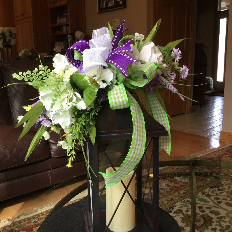 Spring Lantern Swag Easter Lantern Swag Floral Table Decoration