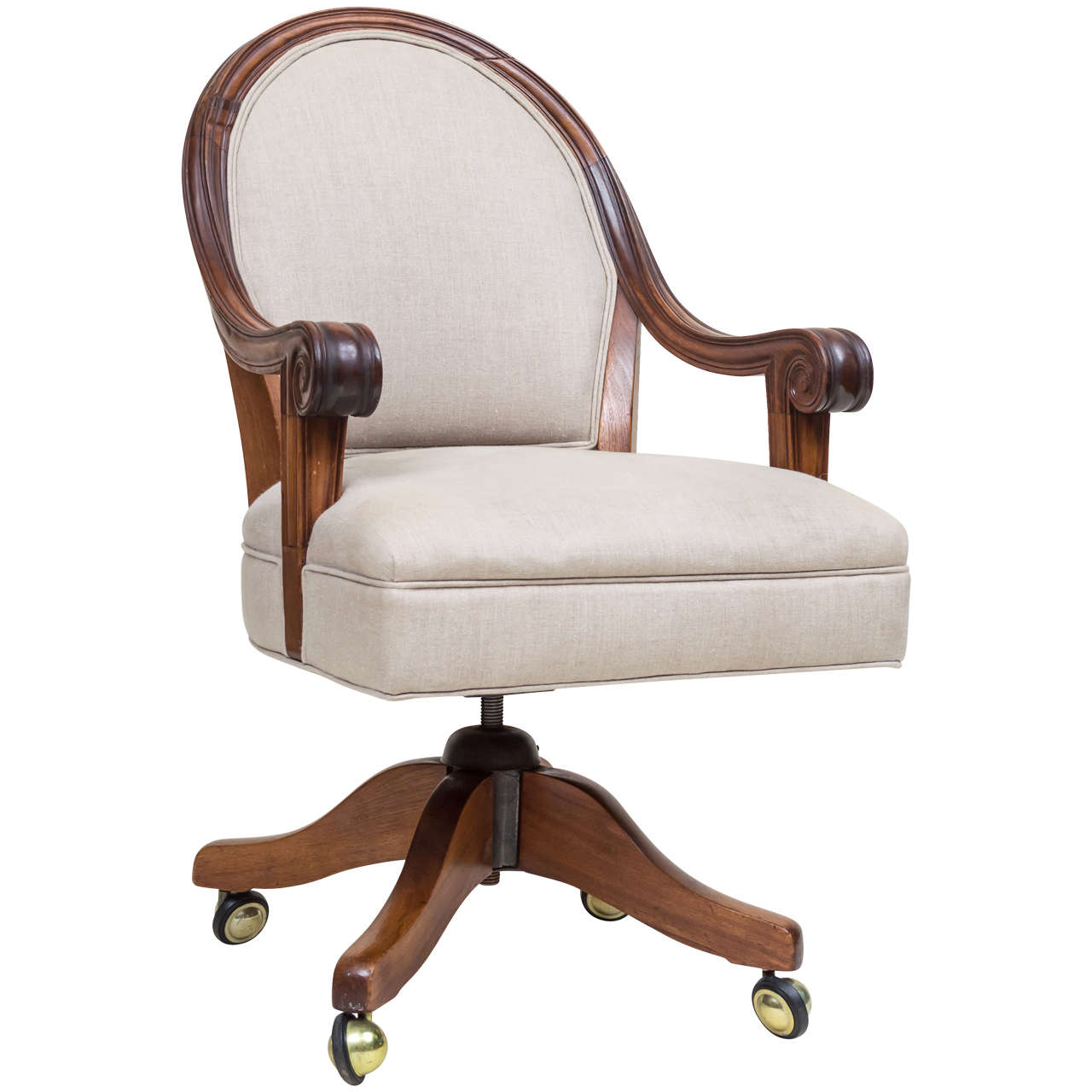 Late Victorian Walnut Desk Chair In 2019 Office Chairs For