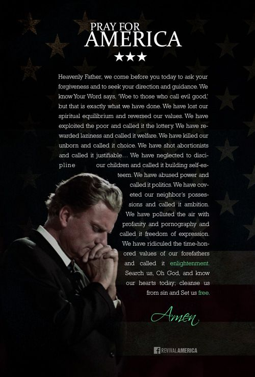 Billy Graham Prayer For The Nation